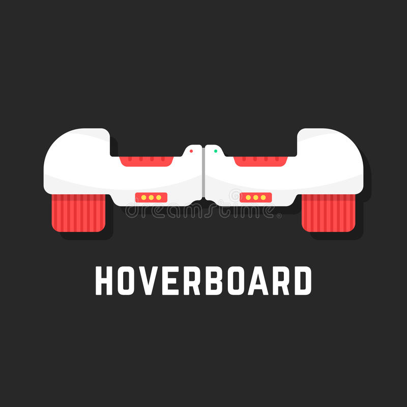 White hoverboard icon like toy royalty free illustration