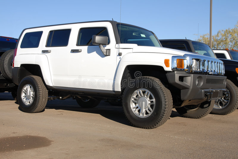 White Hummer royalty free stock image