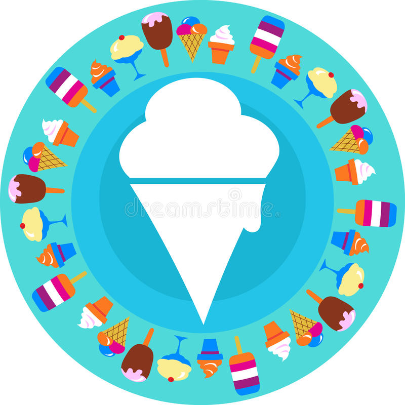 White ice cream icon