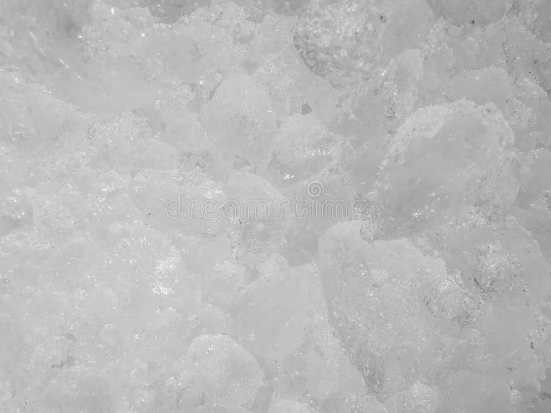 White ice cubes deposited together, Many ice cubes,Ice cubes to cool Mixed with a variety of beverages and drink to help the body stock photo