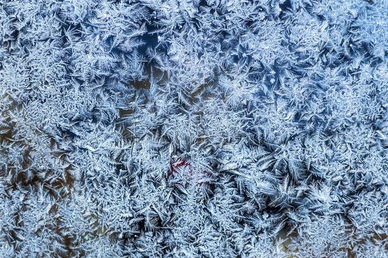 ice patern on the glass. royalty free stock images