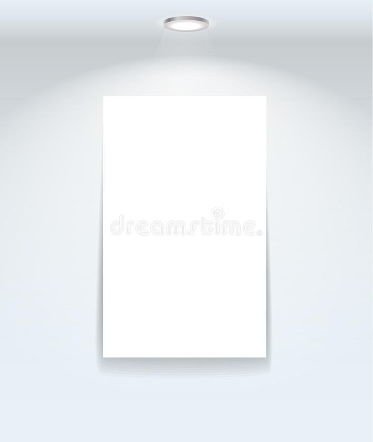 Download White Illuminated Board On The Wall Stock Vector - Illustration: 22147327