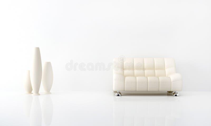 White interior royalty free illustration