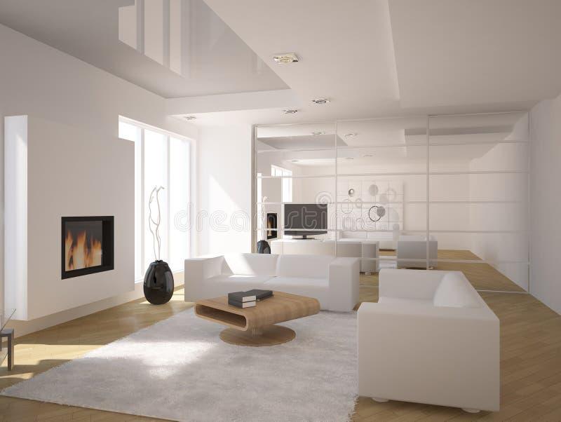 White interior vector illustration