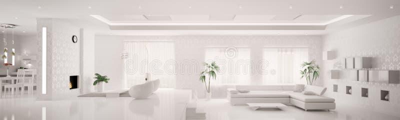 White interior of apartment panorama 3d royalty free stock - Logiciel de decoration d interieur gratuit en ligne ...