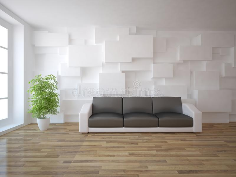 White interior concept stock illustration