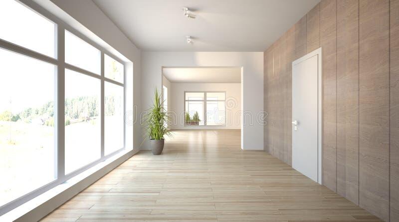 White interior concept for living room stock illustration