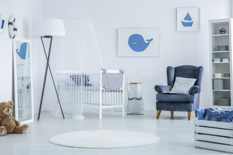 Marine baby room stock photography