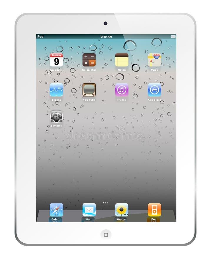 White iPad 2. The latest generation iPad 2, highly popular around the world