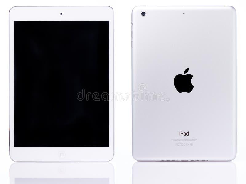 White ipad mini tablet stock photo