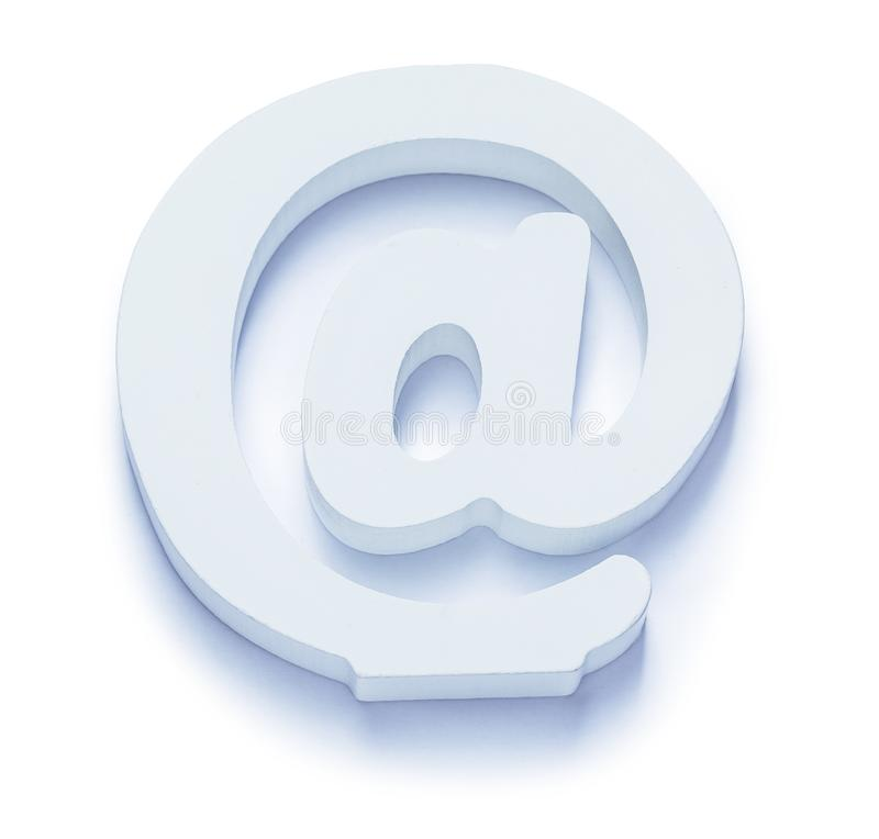 White isolated email symbol consept for contacts and e-mail stock image