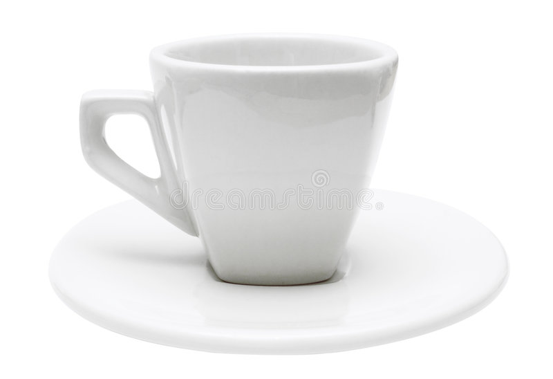 White Isolated Espresso Cup (Path Included) Royalty Free Stock Image