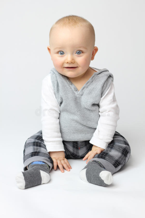 White Isolation of Baby stock photography