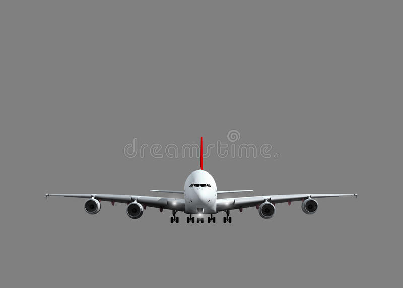 White jet airplane royalty free stock photography