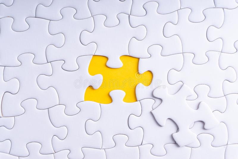 White jigsaw puzzle royalty free stock images