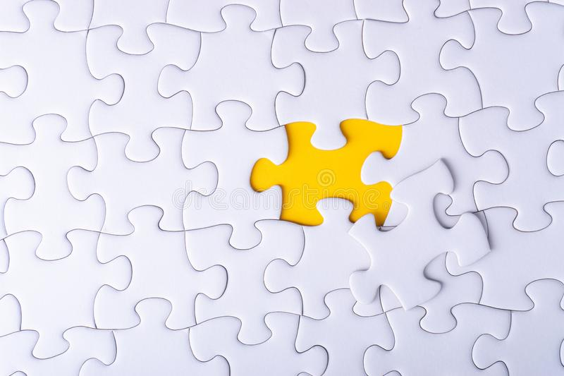 White jigsaw puzzle stock photography