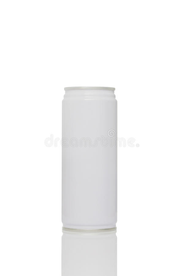 White juice can isolated on white background. Clipping path included stock photos