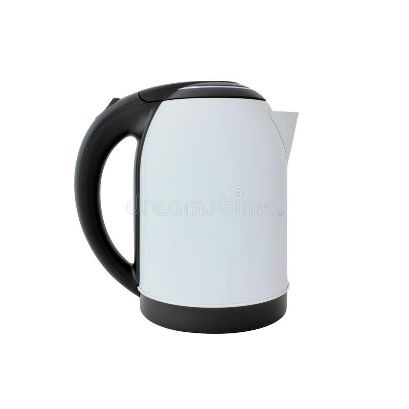 White kettle isolated on white. Background. High quality clipping path included stock photos