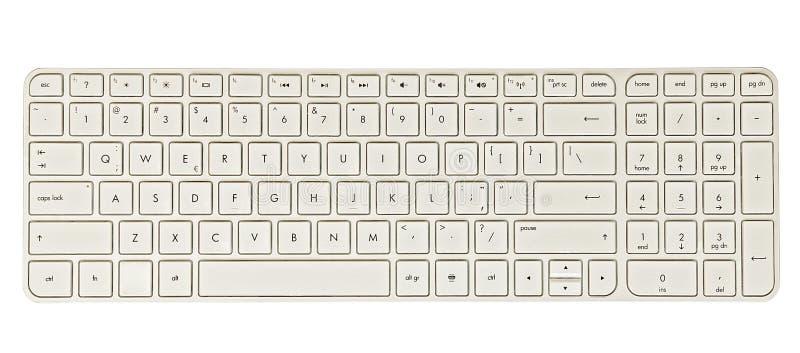 White keyboard stock photos