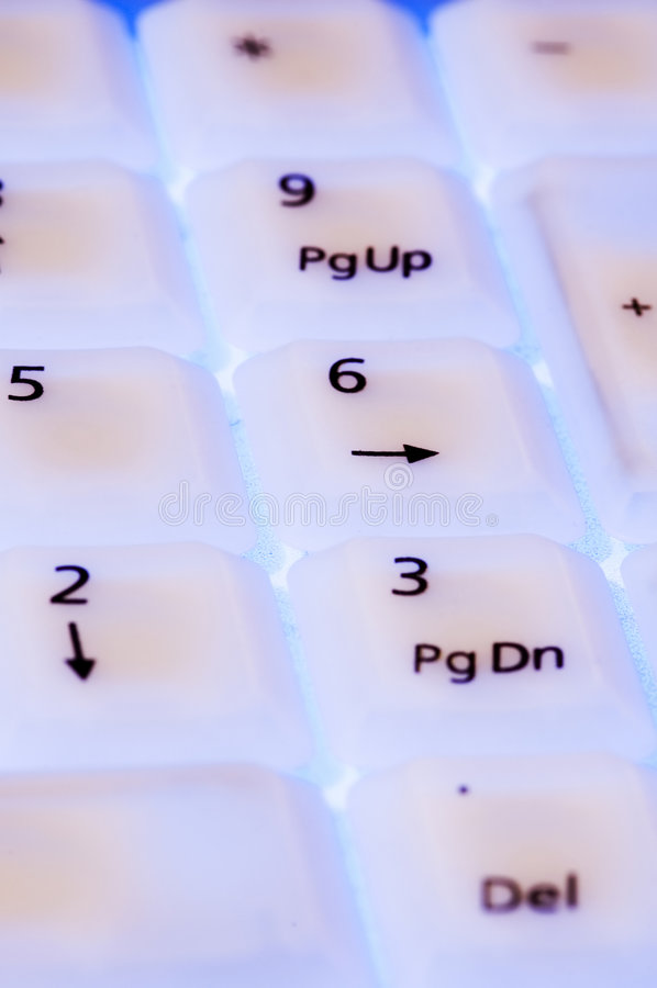 Download White Keyboard With Blue Light Close Up Stock Image - Image: 1582771
