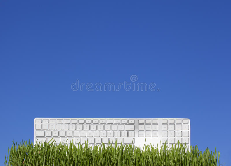 Download White Keyboard On The Grass Stock Photo - Image: 25129140