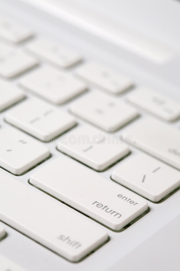 Download White Keyboard With Letters And Numbers. Stock Photo - Image: 6133866