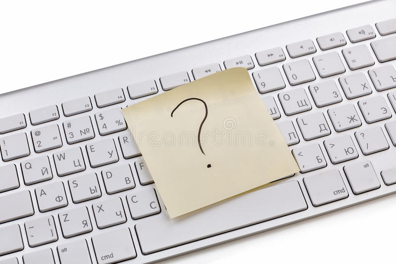 Download White keyboard sticky note stock photo. Image of sticky - 29061916