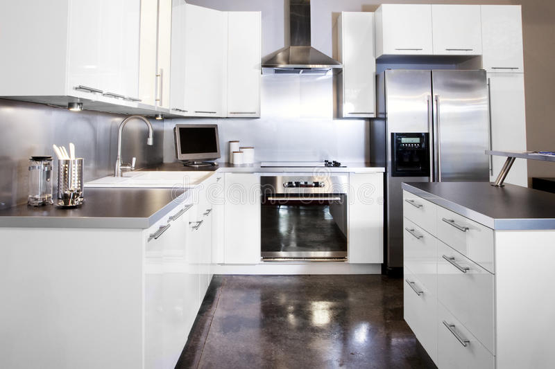 Download White kitchen stock photo. Image of classic, high, white - 18613110