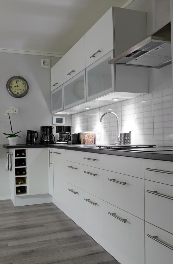 Download White Kitchen In Vertical View Stock Image - Image: 26537581