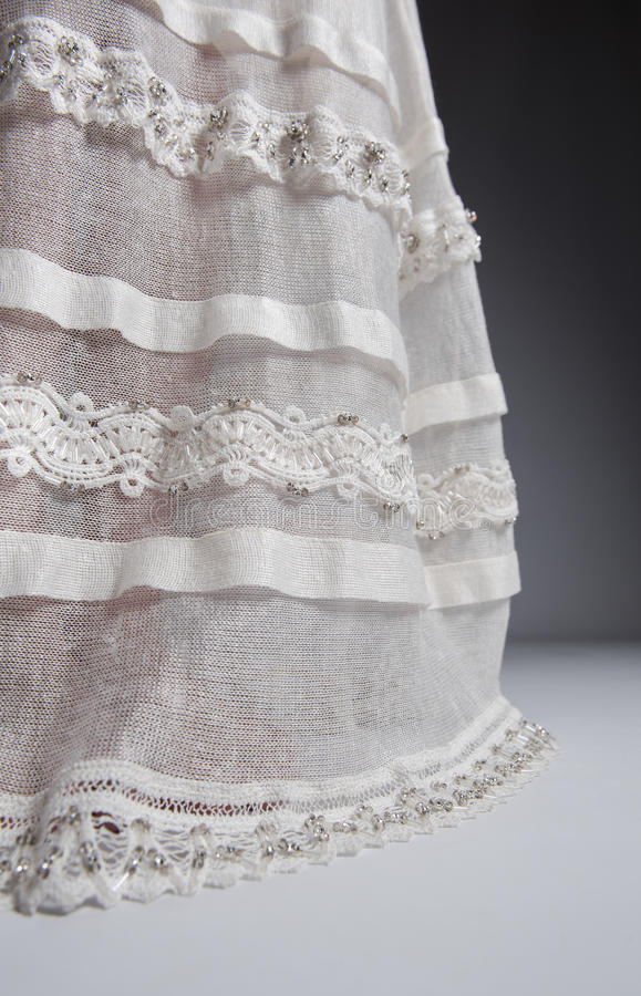 White Knitted Dress Royalty Free Stock Photography