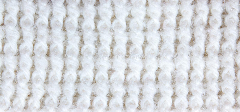 White Knitting Royalty Free Stock Images