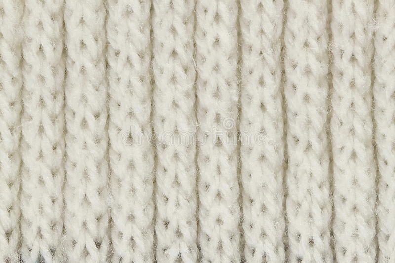 White Knitting Wool Texture For Pattern And Background ...