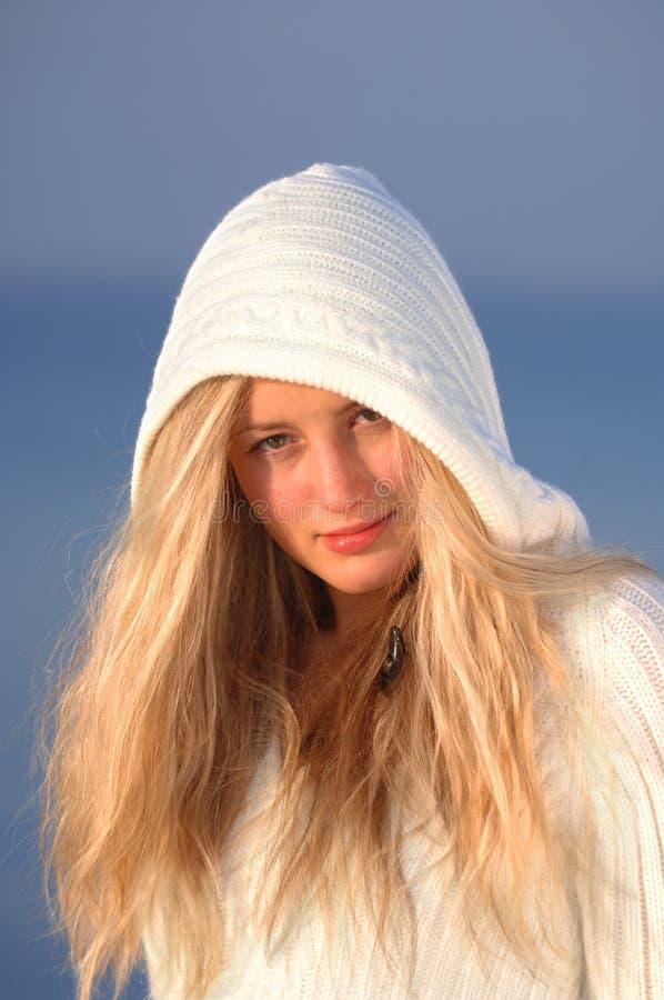 White Knitwear royalty free stock photos