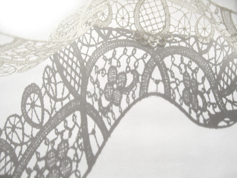 White lace. On white background royalty free stock images