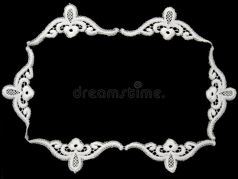 White lace royalty free stock photo