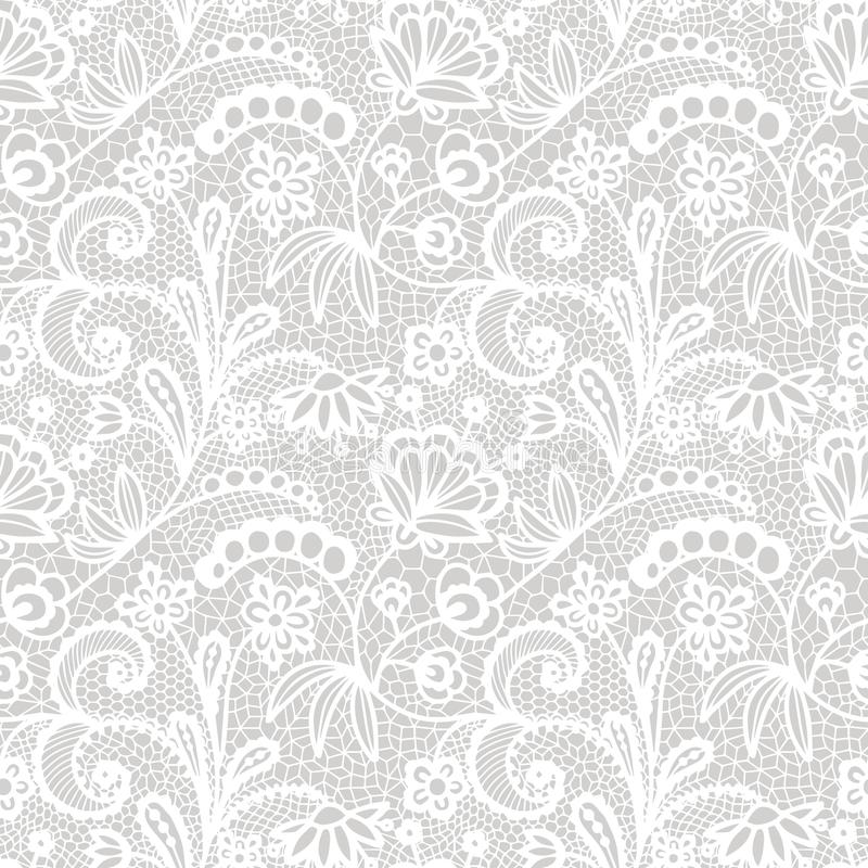 Lace seamless pattern with flowers vector illustration