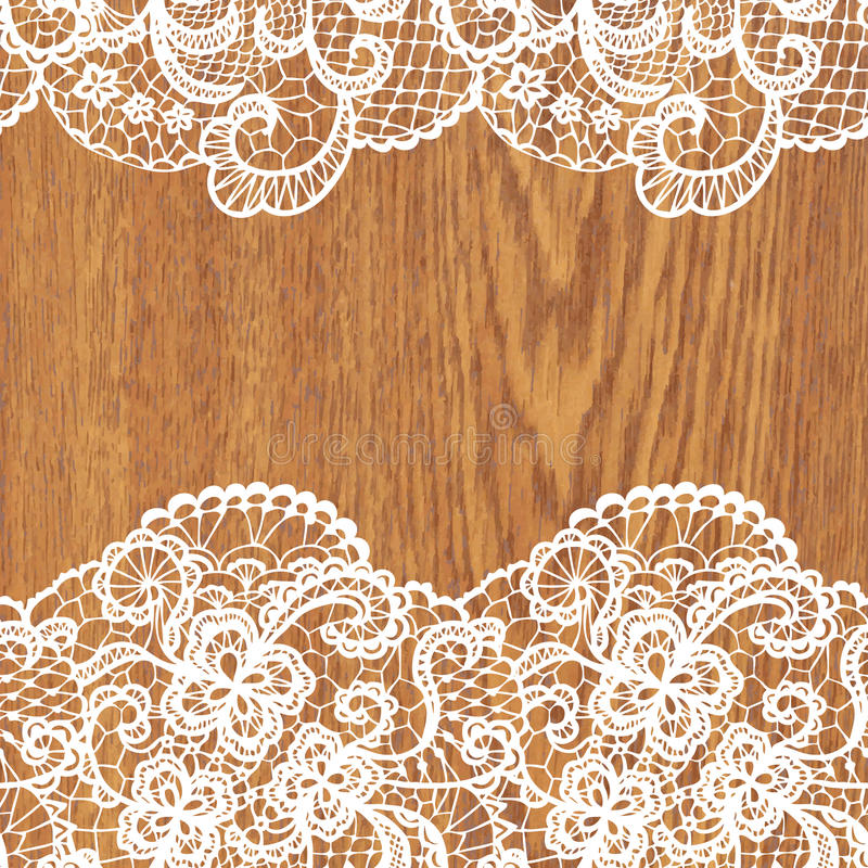White lace on tree texture. Vector illustration stock illustration