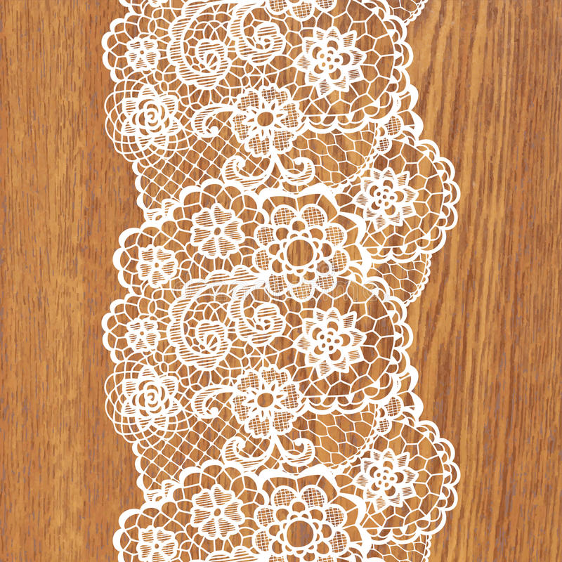 White lace on tree texture. Vector illustration vector illustration