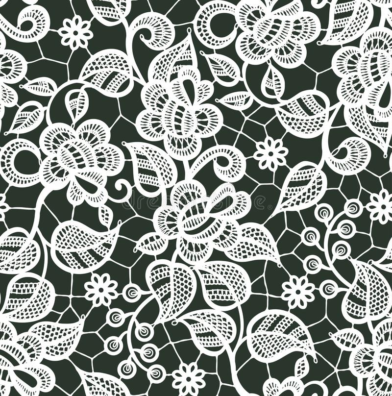 white lace vector seamless pattern floral pattern stock vector rh dreamstime com lace vector free illustrator lace vector ai
