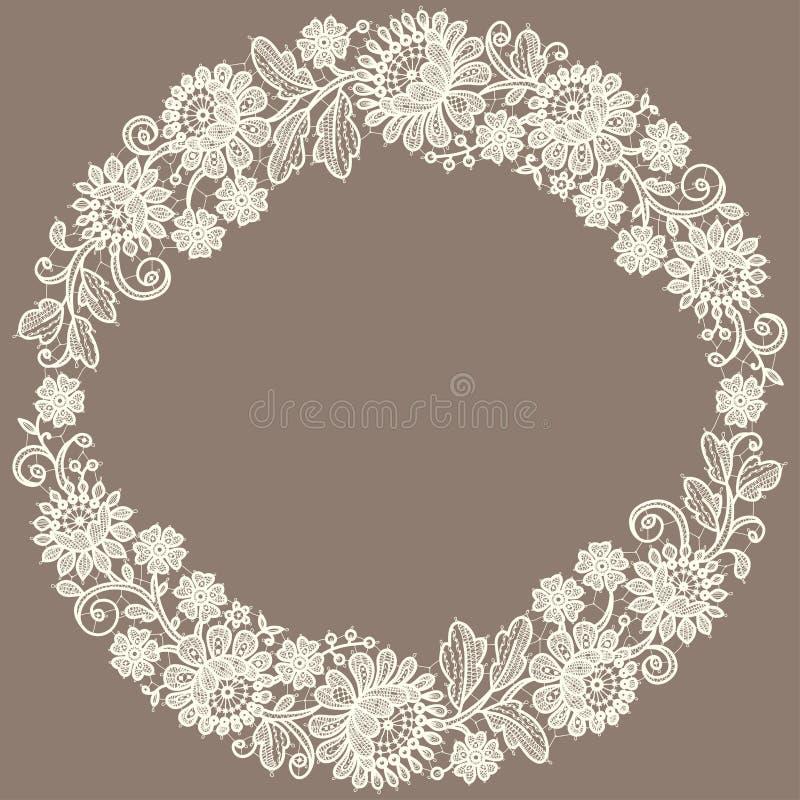 White Lace. Wreath. vector illustration