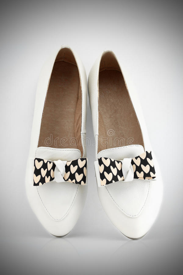 White Ladies Shoes. A pair of White Ladies shoes stock image