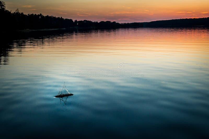 White lake stock photography