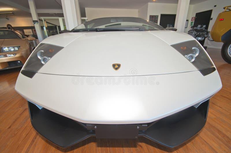 White Lamborghini stock photography