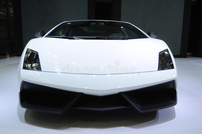 Download White Lamborghini, Gallardo LP 570-4 Superleggera Stock Image - Image: 16192719