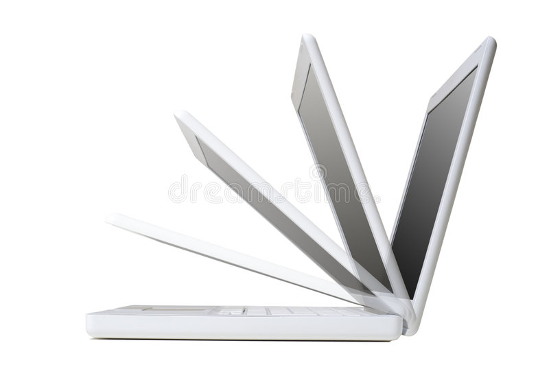 Download White Laptop stock image. Image of communication, connection - 3599879