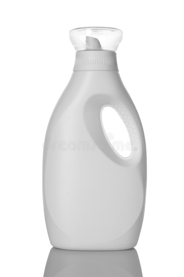 White Laundry Detergent Liquid Bottle for Mockup stock image