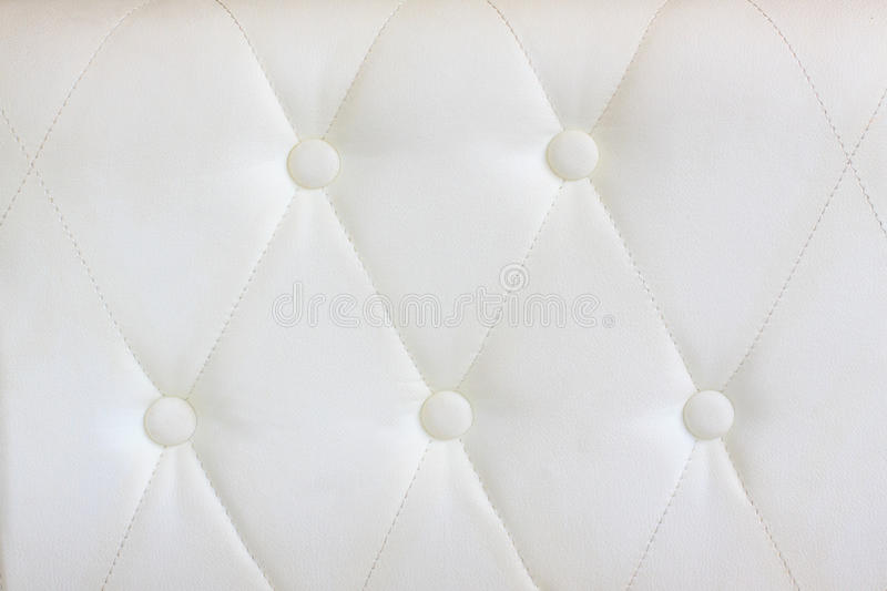 Download White  Leather With Button Decorated Stock Image - Image: 25600035