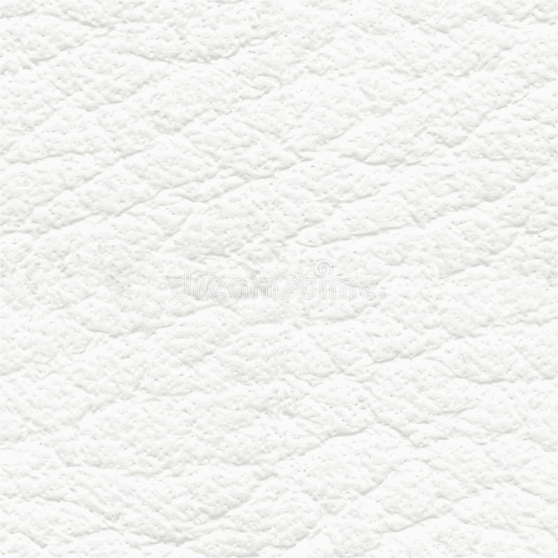 White leather seamless texture. Or pattern stock illustration