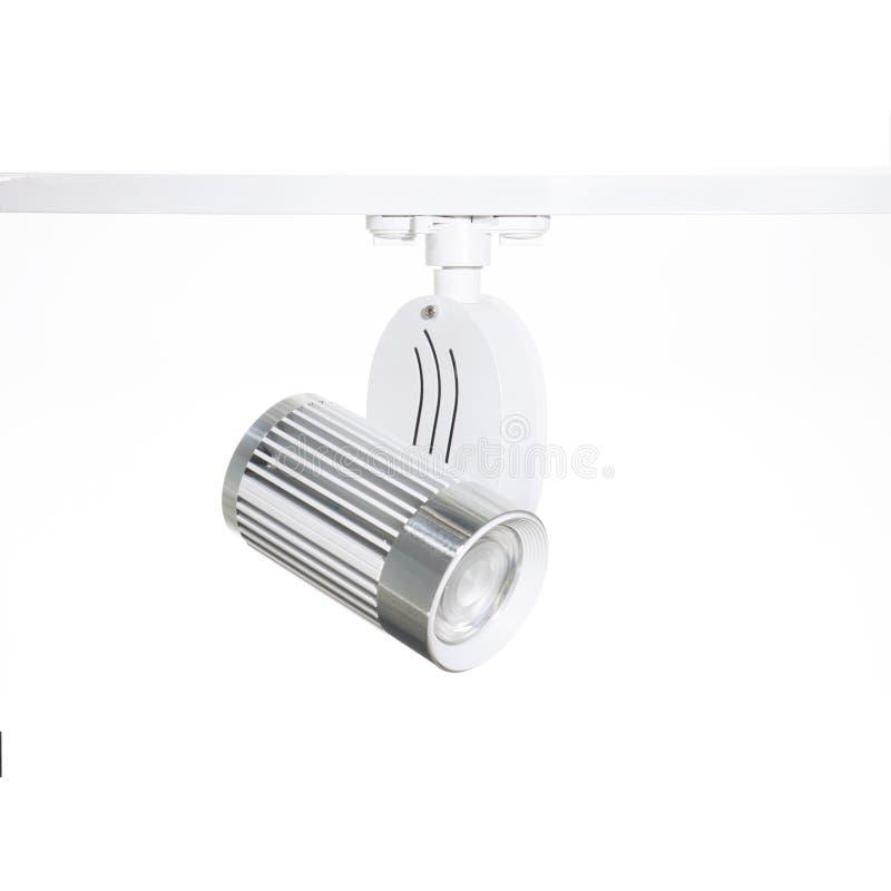 White LED Spot ceiling led light on white background isolated. White LED Spot ceiling led light isolated on white background royalty free stock image