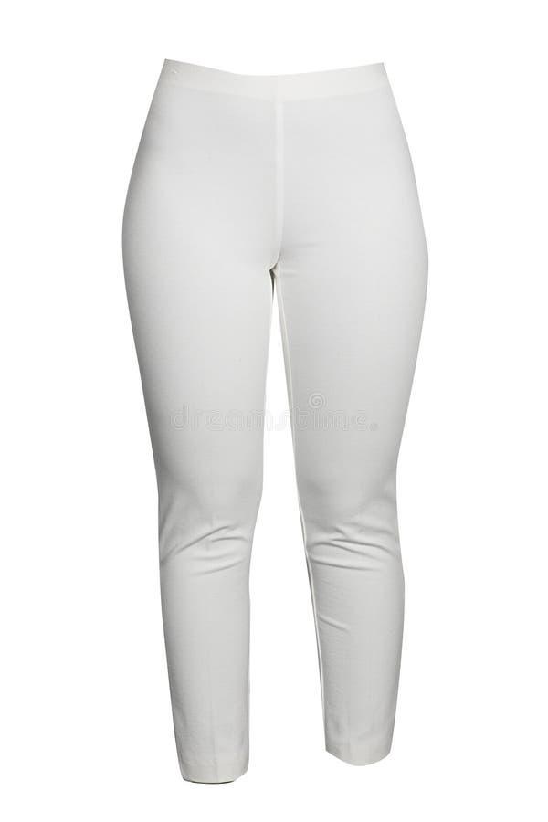 White leggins. Isolated on white background stock photography